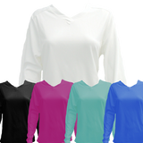 Women's LS V Neck Tech