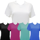 Women's SS V Neck Tech