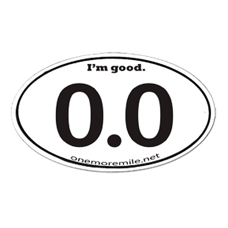 "Car Magnet ""0.0  I'm Good"""