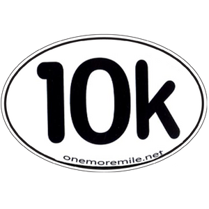 "Large Oval Sticker ""10K"""