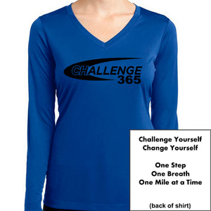 Coach Jenny's Challenge 2019 Ladies Sports Tech Long Sleeve V