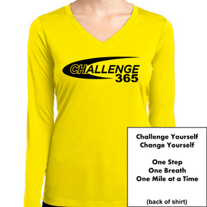 Coach Jenny's Challenge 365 Ladies Sports Tech Long Sleeve V