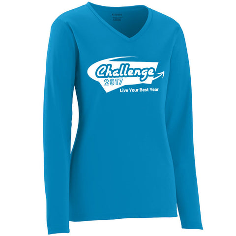 Coach Jenny's Challenge 2017 Ladies Sports Tech Long Sleeve V