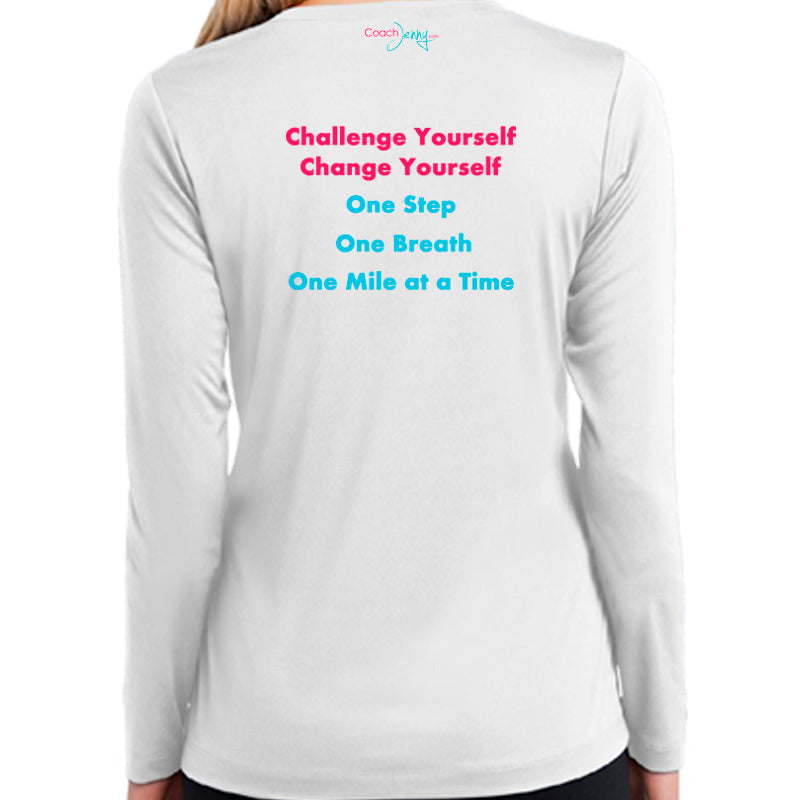 Coach Jenny's Challenge 2018 Ladies Sports Tech Long Sleeve V