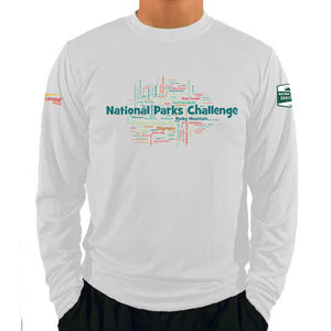 Coach Jenny's National Parks Challenge 2018 Men's Sports Tech Long Sleeve Crew