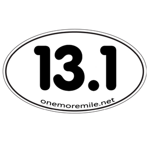 "Car Magnet ""13.1 Smooth Font"" - White w/ Black Imprint"