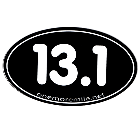 "Car Magnet ""13.1 Smooth Font"" - Black w/ White Imprint"