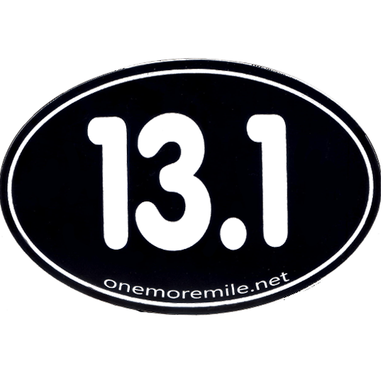 Large oval sticker 13 1 smooth font black w white imprint