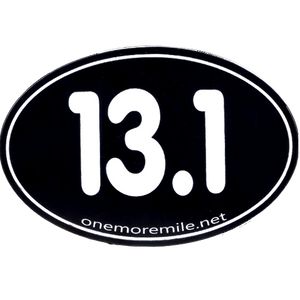 "Large Oval Sticker ""13.1 Smooth Font"" - Black w/ White Imprint"