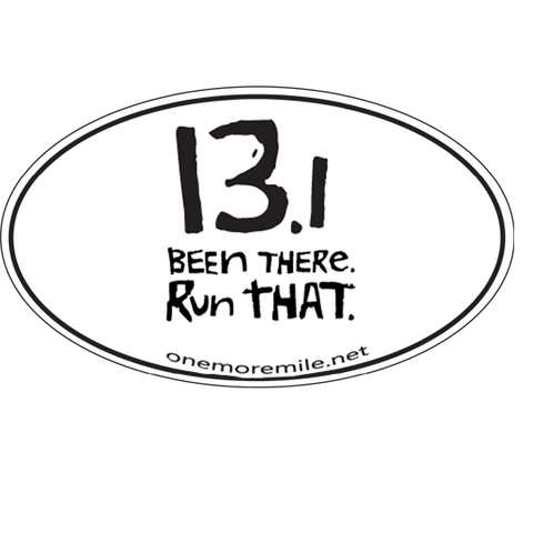 "Car Magnet ""13.1 Been There, Run That"""