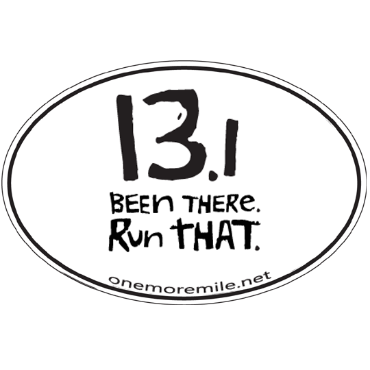 Large oval sticker 13 1 been there run that