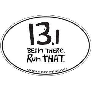 "Large Oval Sticker ""13.1 Been There, Run That"""