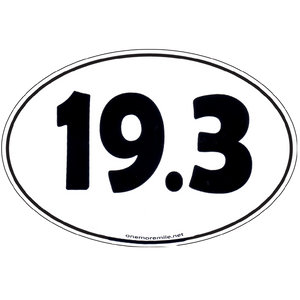 "Large Oval Sticker ""19.3"""
