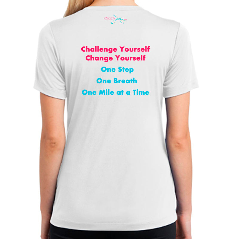 Coach Jenny's Challenge 2018 Ladies Sports Tech Short Sleeve V