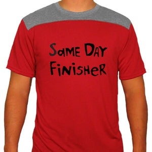 "Men's TwoTone Short Sleeve Crew - ""Same Day Finisher"""