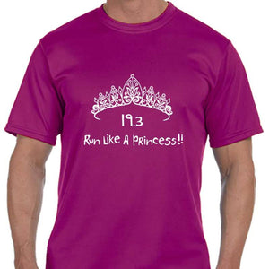 "Men's Sports Tech Short Sleeve Crew - ""19.3 Run Like A Princess"""