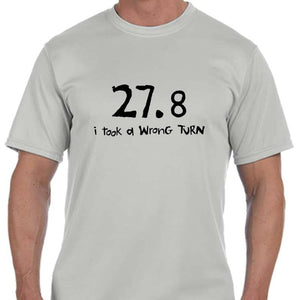 "Men's Sports Tech Short Sleeve Crew - ""27.8  I Took A Wrong Turn"""