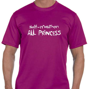 "Men's Sports Tech Short Sleeve Crew - ""13.1 Half Marathon, All Princess"""
