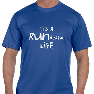 "Men's Sports Tech Short Sleeve Crew - ""It's A Runderful Life"""
