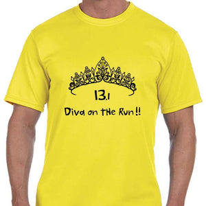 "Men's Sports Tech Short Sleeve Crew - ""13.1 Diva On The Run"""