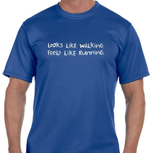 "Men's Sports Tech Short Sleeve Crew - ""Looks Like Walking, Feels Like Running"""
