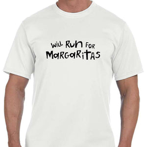 "Men's Sports Tech Short Sleeve Crew - ""Will Run For Margaritas"""