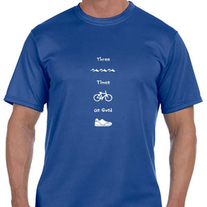 "Men's Sports Tech Short Sleeve Crew - ""Three Times As Good"""