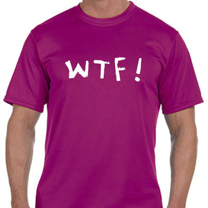 "Men's Sports Tech Short Sleeve Crew - ""WTF (Where's The Finish?)"""