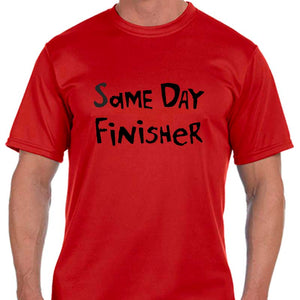 "Men's Sports Tech Short Sleeve Crew - ""Same Day Finisher"""