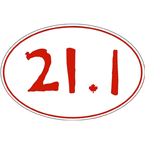 "Large Oval Stickers ""21.1"""