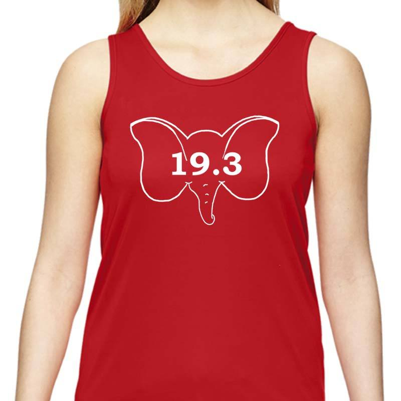 "Ladies Sports Tech Tank Crew - ""19.3  What A Dumbo!"""