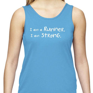 "Ladies Sports Tech Tank Crew - ""Unless My iPhone Dies"""