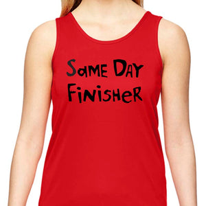 "Ladies Sports Tech Tank Crew - ""Same Day Finisher"""