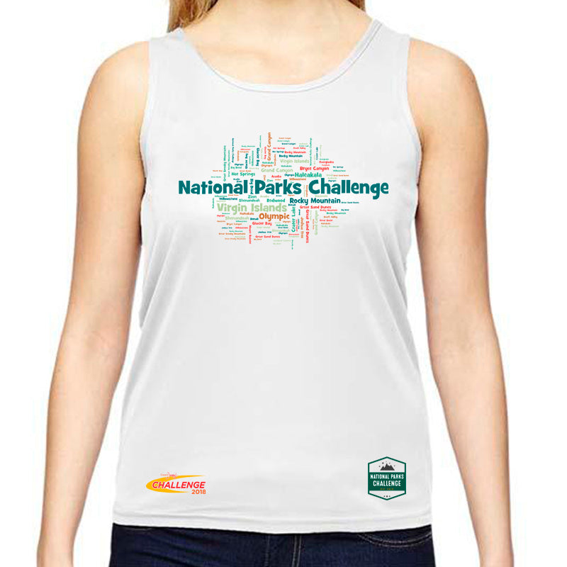 Coach Jenny's National Parks Challenge 2018 Ladies Sports Tech Tank Crew