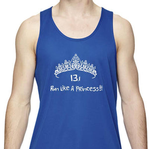 "Men's Sports Tech Tank - ""13.1 Run Like A Princess"""