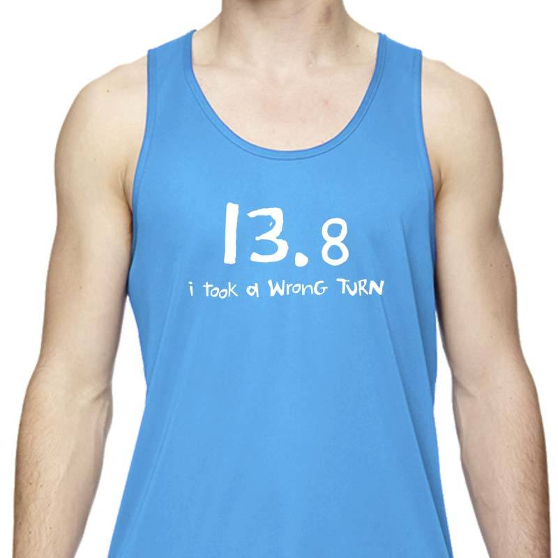 "Men's Sports Tech Tank - ""13.8  I Took A Wrong Turn"""
