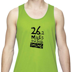 "Men's Sports Tech Tank - ""26.2 Miles And Still Smiling"""