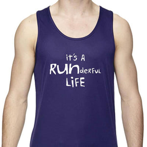 "Men's Sports Tech Tank - ""It's A Runderful Life"""