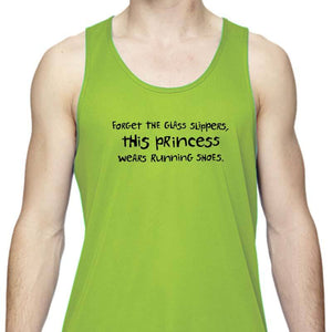 "Men's Sports Tech Tank - ""Forget The Glass Slippers.  This Princess Wears Running Shoes"""
