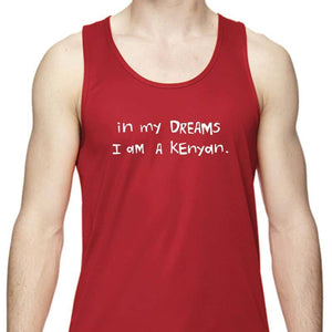 "Men's Sports Tech Tank - ""In My Dreams I Am A Kenyan"""