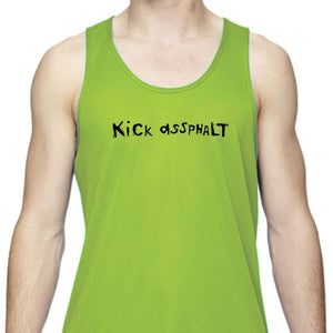 "Men's Sports Tech Tank - ""Kick Assphalt"""