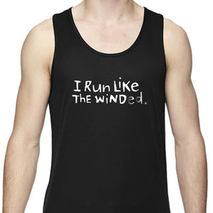 "Men's Sports Tech Tank - ""I Run Like The Winded"""