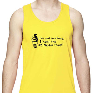 "Men's Sports Tech Tank - ""I'm Not In A Race, I Hear The Ice Cream Truck!"""