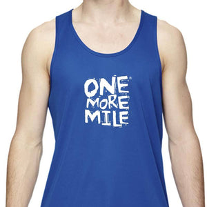 "Men's Sports Tech Tank - ""One More Mile"""