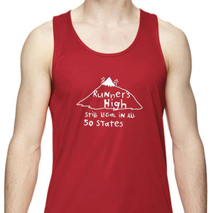 "Men's Sports Tech Tank - ""Runner's High"""