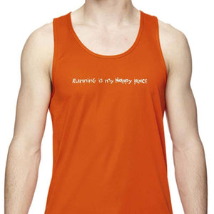 "Men's Sports Tech Tank - ""Running Is My Happy Place"""