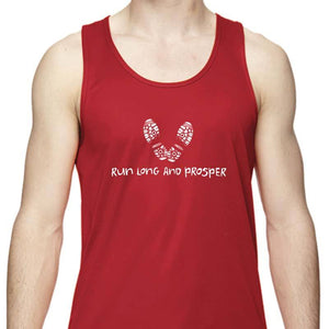 "Men's Sports Tech Tank - ""Run Long And Prosper"""