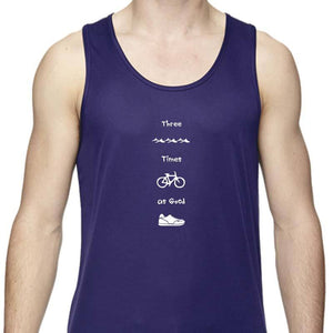 "Men's Sports Tech Tank - ""Three Times As Good"""