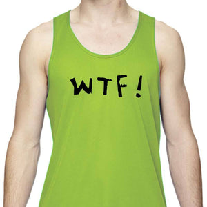 "Men's Sports Tech Tank - ""WTF (Where's The Finish?)"""