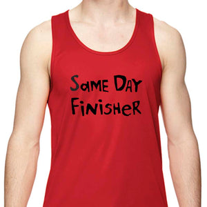 "Men's Sports Tech Tank - ""Same Day Finisher"""